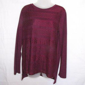 Company Ellen Tracy Mulberry Long Sleeve Top